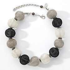 Large Bead Mesh Necklace by Erica Zap (Metal Necklace)