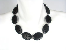 Oval Lava Rock Necklace by Erica Zap (Silver & Stone Necklace)