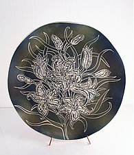 White Lilies by Sara Meehan (Ceramic Platter)