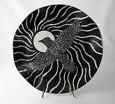 Soaring Raven Platter by Sara Meehan (Ceramic Platter)