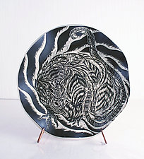 Earth Dragon Plate by Sara Meehan (Ceramic Plate)