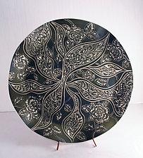 Gothic Roses by Sara Meehan (Ceramic Platter)