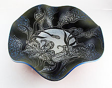 Giant Summer Lilies Bowl by Sara Meehan (Ceramic Bowl)