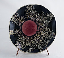 Small Gothic Rose Plate by Sara Meehan (Ceramic Platter)