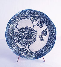 Summer Peony by Sara Meehan (Ceramic Plate)