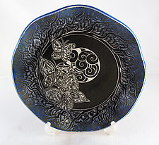 Evening Butterfly Platter by Sara Meehan (Ceramic Platter)