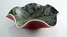 Rose Garden Bowl by Sara Meehan (Ceramic Bowl)