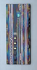 Vineyard Purple Wall Panel by Mark Ditzler (Art Glass Wall Art)