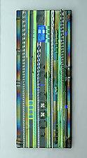 Green Field Wall Panel by Mark Ditzler (Art Glass Wall Sculpture)