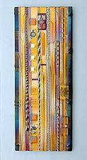 Harvest Amber Wall Panel by Mark Ditzler (Art Glass Wall Art)