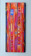 Fruit Red Wall Panel by Mark Ditzler (Art Glass Wall Art)