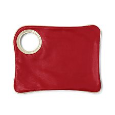 Oversized Clutch by Arza Gilad (Leather Purse)