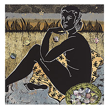 Tranquil, No.7 of the Languor Series by Ouida  Touchon (Linocut Print)