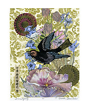 Serendipity by Ouida  Touchon (Mixed-Media Collage)