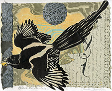 Black is the Color by Ouida  Touchon (Monotype Print)