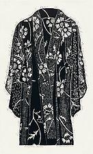 Sunflower Kimono by Ouida  Touchon (Woodcut Print)