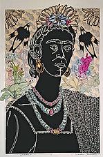 Frida ll by Ouida  Touchon (Linocut Print)