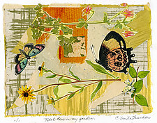 Rest Here in My Garden by Ouida  Touchon (Monotype Print)