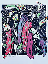 Chiles No.25 by Ouida  Touchon (Woodcut Print)