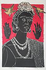 Frida l by Ouida  Touchon (Linocut Print)