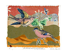 Sustained Winds, Tropical Storm by Ouida  Touchon (Collage Print)