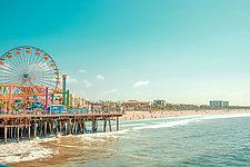 Pacific Park Ferris Wheel No. 2 by Dario Preger (Color Photograph)