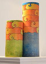Yellow Submarine Vases by Rod  Hemming (Ceramic Vase)