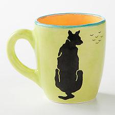 Mia Ever Watchful Mug by Rod  Hemming (Ceramic Mug)