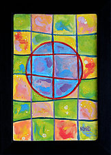 Crop Circle Day by Rod  Hemming (Ceramic Wall Sculpture)