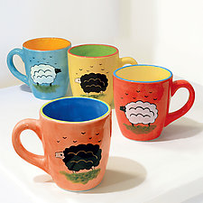 Erin the Woolly Jumper Mug by Rod  Hemming (Ceramic Mug)