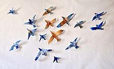 Skylarks by Caleb Nichols (Art Glass Wall Sculpture)