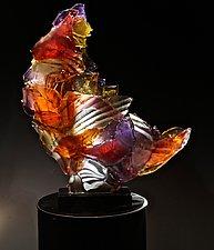 Stripes by Caleb Nichols (Art Glass Sculpture)