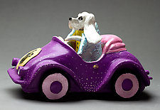 Bella Goes Shopping by Byron Williamson (Ceramic Sculpture)