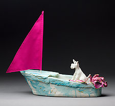 Bon Voyage II by Byron Williamson (Ceramic Sculpture)