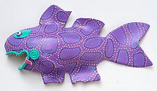 Purple Aussie Imp by Byron Williamson (Ceramic Wall Sculpture)
