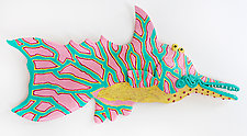 Sarasota Seagrass Fish by Byron Williamson (Ceramic Wall Sculpture)