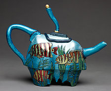 Fish Tea Pot II by Byron Williamson (Ceramic Sculpture)