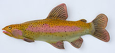 Poudre River Trout by Byron Williamson (Ceramic Wall Sculpture)