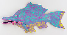 Grand Wazoo Wazo Fish by Byron Williamson (Ceramic Wall Sculpture)