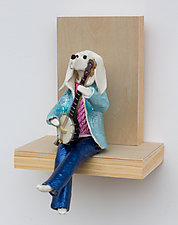 Banjo Player II by Byron Williamson (Ceramic Wall Sculpture)