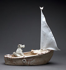 Bon Voyage by Byron Williamson (Ceramic Sculpture)