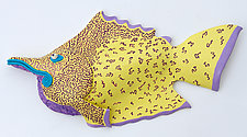 Purple Tail Pampano by Byron Williamson (Ceramic Wall Sculpture)