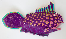 Jamaica Jumpfish by Byron Williamson (Ceramic Wall Sculpture)