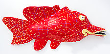 Red Snapper by Byron Williamson (Ceramic Wall Sculpture)