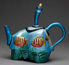 Fish Tea Pot by Byron Williamson (Ceramic Sculpture)