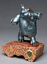 Hippo Dance by Byron Williamson (Ceramic Sculpture)