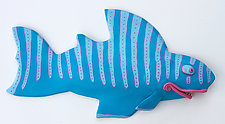 Blue Fandango by Byron Williamson (Ceramic Wall Sculpture)
