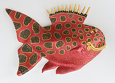 Gold Lazlo by Byron Williamson (Ceramic Wall Sculpture)