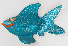 Blue-Fin Maverick by Byron Williamson (Ceramic Wall Sculpture)