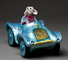 Jasper's Jalopy by Byron Williamson (Ceramic Sculpture)